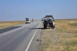 Cars on a street in Kazakhstan