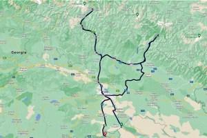 Route durch das östliche Georgien