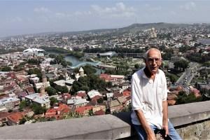 Blick von der Nariqala Festung auf Tbilissi