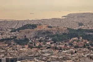 View of the Acropolis from Lycabettus Hill