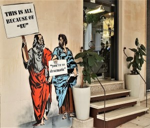 Graffiti in Athen, Griechenland