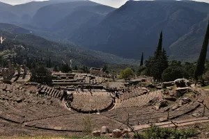 Ancient theatre in Delphi, Greece