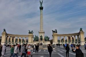 Millenniumsdenkmal auf dem Heldenplatz Budapest, Ungarn