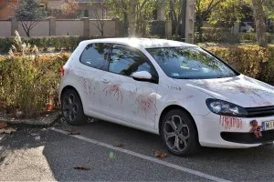 Car with Halloween paintwork