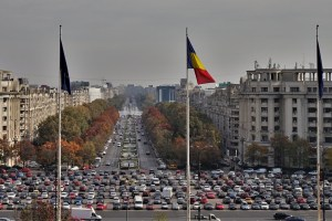 A view of Bucharest from the Palace of Parliament