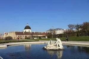 In the garden of Belvedere Palace Vienna, Austria