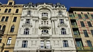 Building fronts in Vienna, Austria