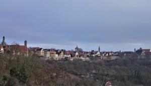 Blick vom Burggarten auf Rothenburg ob der Tauber, Deutschland