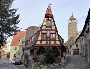 Stadtmauer Rothenburg ob der Tauber, Deutschland