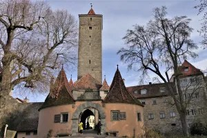 City gate Rothenburg ob der Tauber, Germany