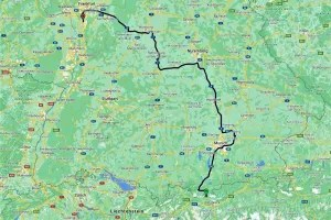My route through Germany