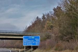 Autobahnschild Deutschland