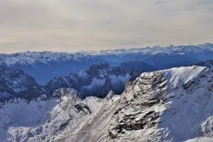 View of the Alps from the Zugspitze, Germany