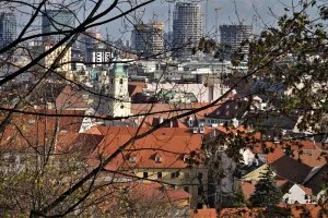 View of the old town of Bratislava
