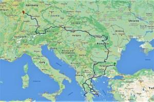 Meine Strecke in Europa