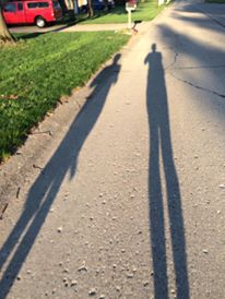 Just me and my shadow on a long Saturday morning run.