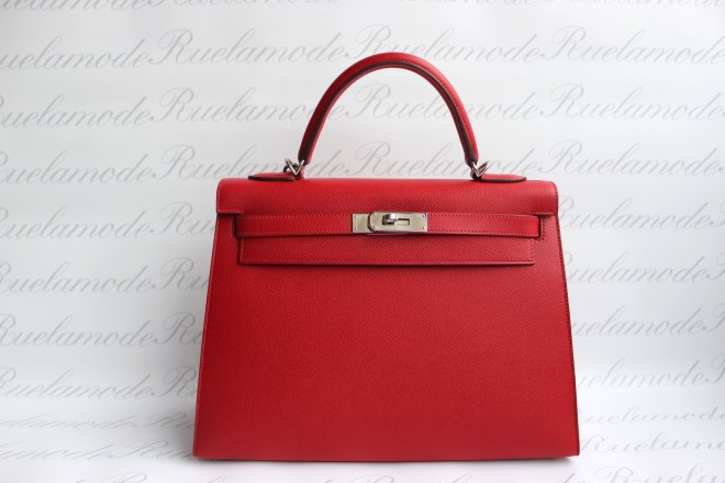 Hermes Kelly 32 Rouge Casaque PHW