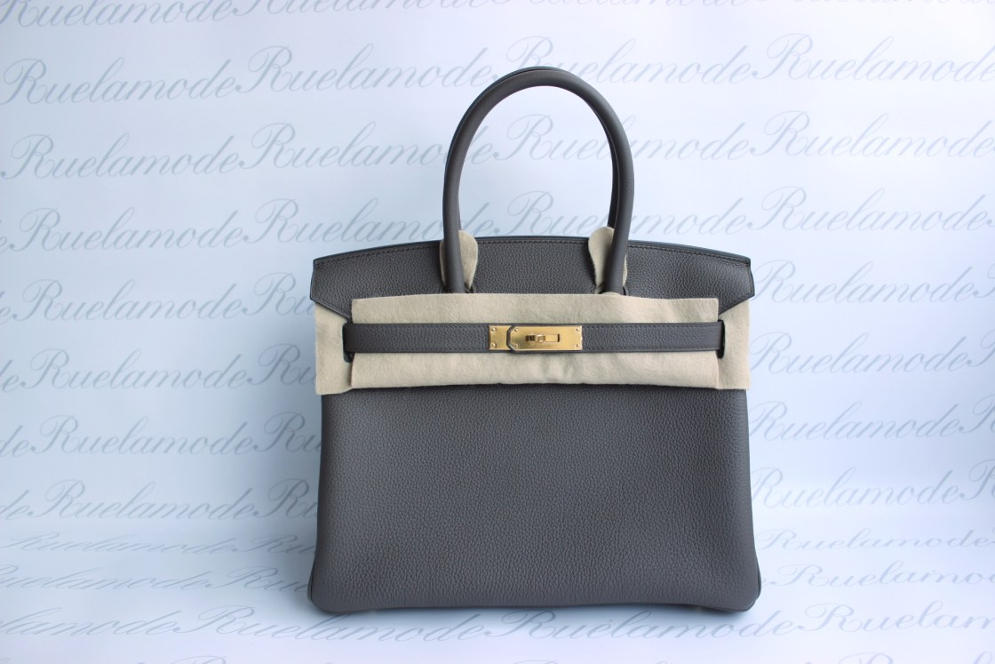 1f48ee5240d Brand new Hermes Birkin 30 Etain Togo GHW SOLD – Ruelamode