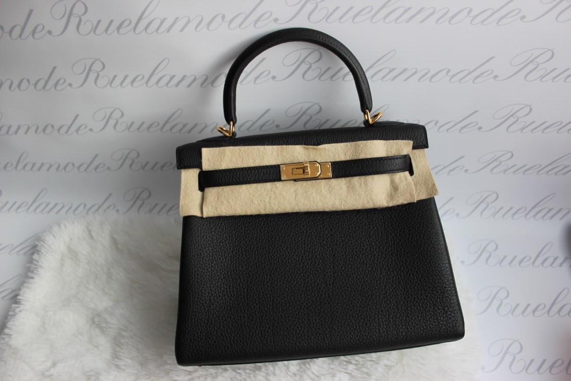 593c165f92b9 Brand new Hermes Kelly 25 black Togo GHW SOLD – Ruelamode