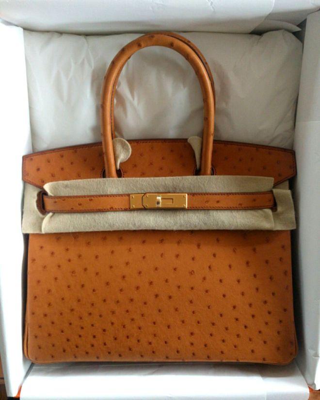 Hermes Birkin 30 ostrich Gold GHW.JPG