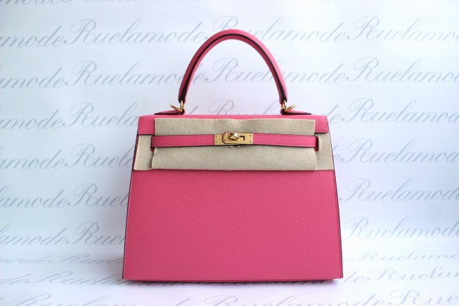 Hermes Kelly 25 rose azalee.JPG