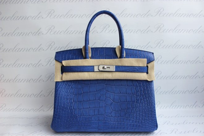 Blue electric matte Birkin 30
