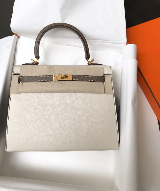 Hermes kelly 25 Craie and etoupe