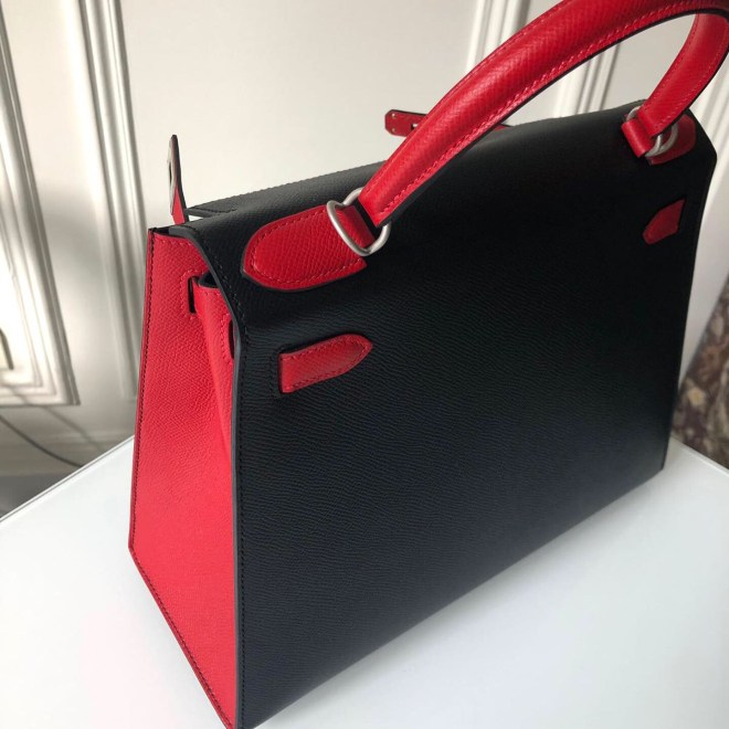Hermes K28 Black and rouge casaque.JPG