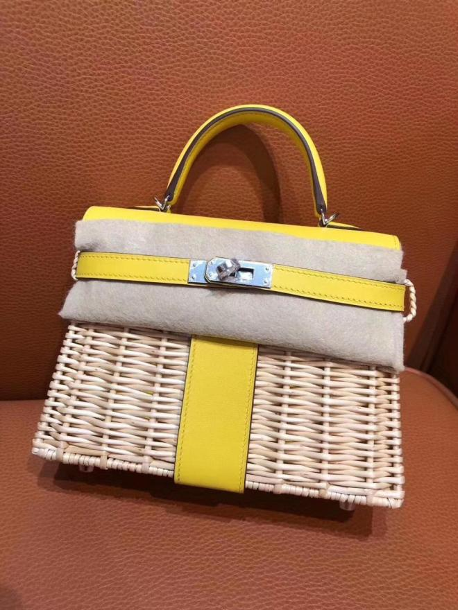 Hermes kelly mini Picnic Jaune naples