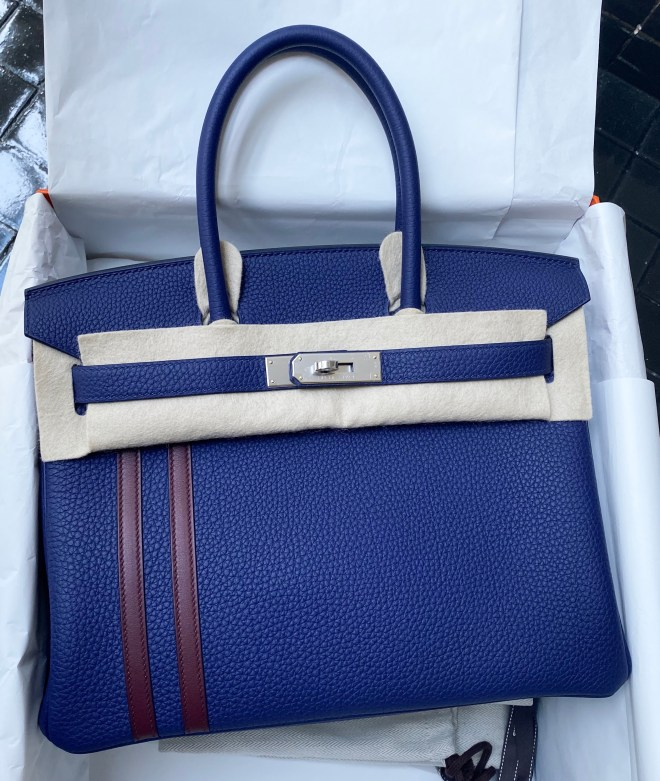 Birkin 30 blue encre Officier PHW.JPG