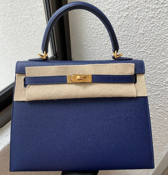 Hermes kelly 25 blue sapphire ghw
