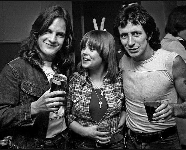 AC/DC Mark Evans And Bon Scott