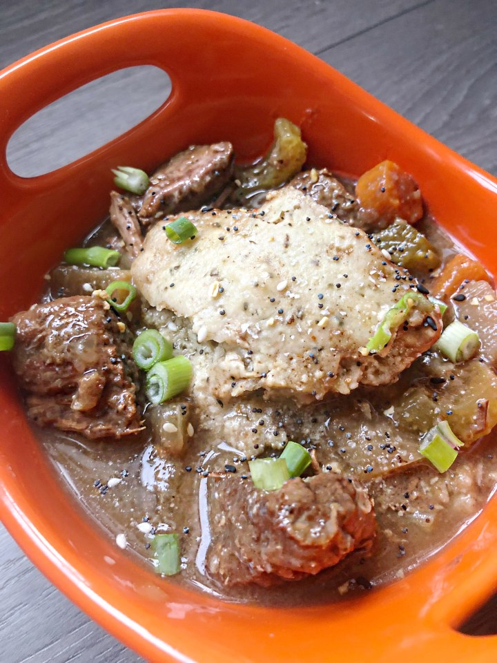 Slow cooker beef stew recipe with two flavour secrets