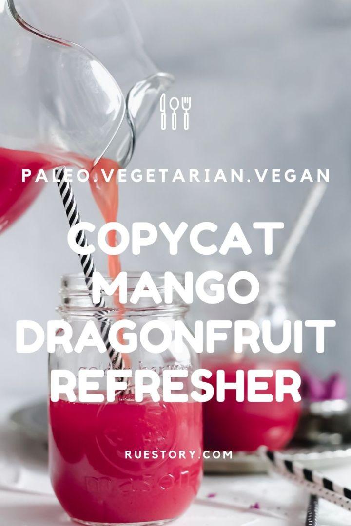 Copycat Starbucks Mango Dragonfruit Refresher