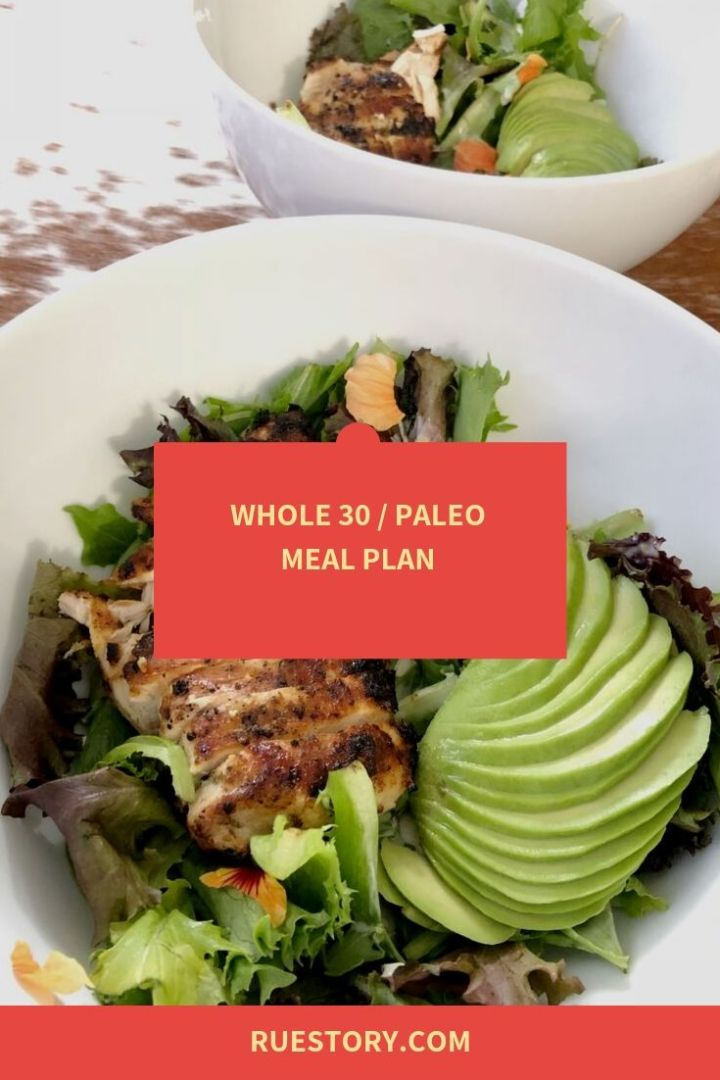 Whole30 Week 1 Meal Plan