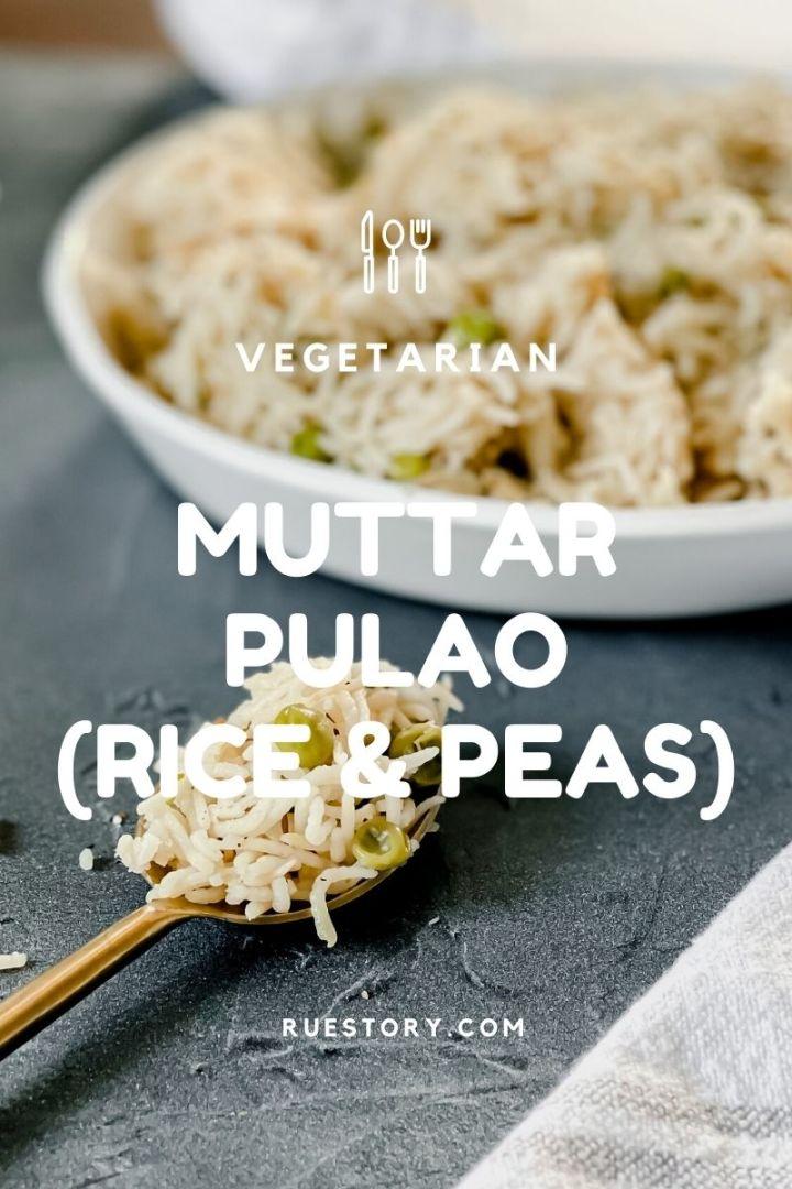 Muttar Pulao (Rice & Peas)