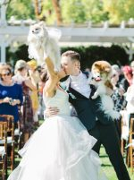 Tropical Palm Springs Wedding with a Touch of Disco Fever