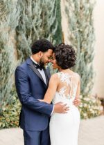 Glam Bay Area Wedding Amidst Grape Vines and Cypress Trees