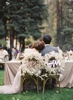Magical Wedding in the Redwoods with Lunaria and Neutral Foliage