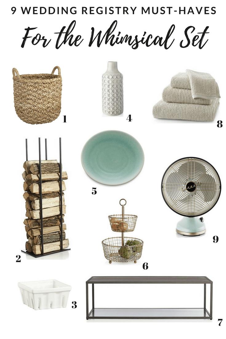 wedding registry essentials from crate