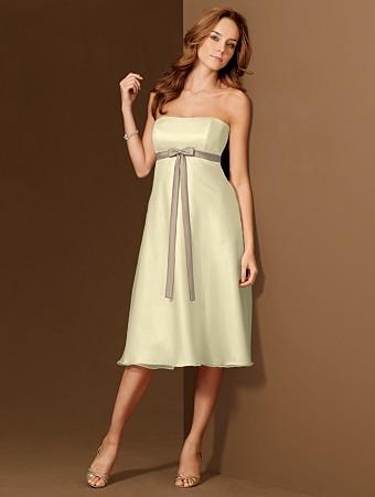 Yellow Chiffon Bridesmaid Dress