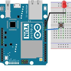 pulsador y led en Arduino