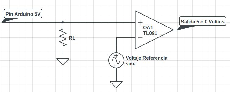 Circuito Amplificador Operacional Comparador