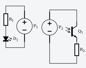 circuito de un sensor óptico en pull down