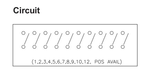 Circuito de un conjunto de interruptores dip