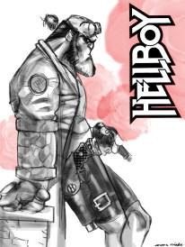 hellboy b-w rose