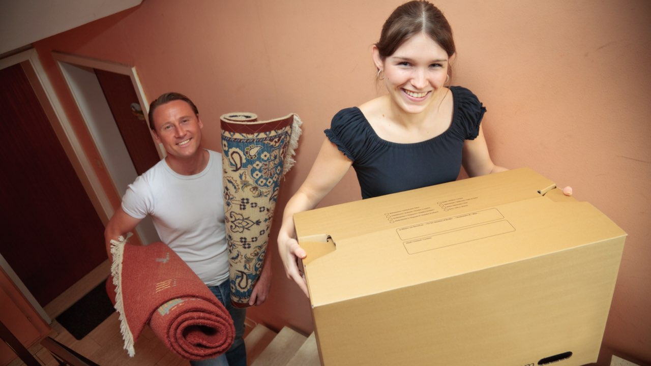 rug storage service, rolled rugs and package