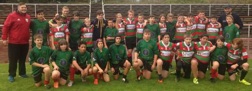 U14 team mit den Gastberbern aus Heusenstamm