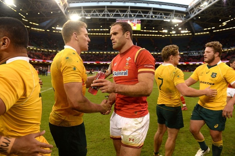 05.11.16 - Wales v Australia - Under Armour Series - Jamie Roberts of Wales at the end of the game.