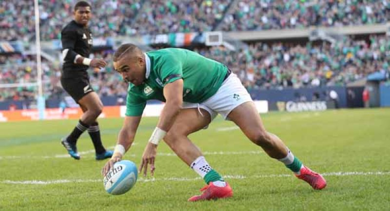 Simon Zebo scores their fourth try 5/11/2016